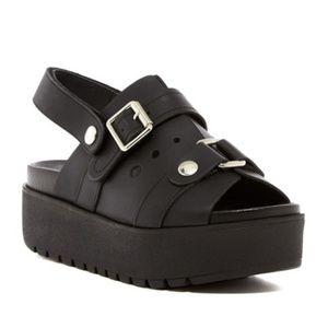 Shelly's London Dagma platform sandals sz 40